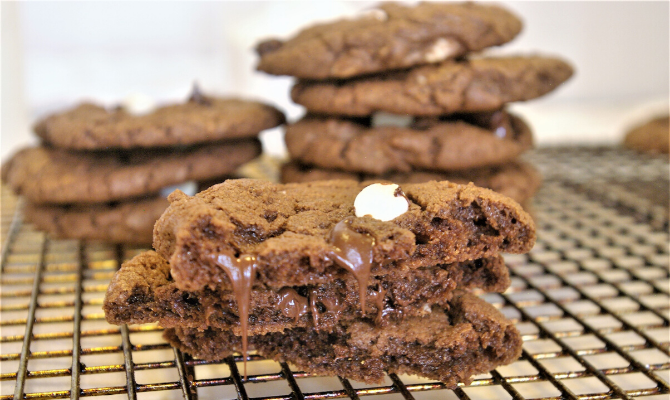 Homemade Double Delicious Chewy Chocolate Cookies