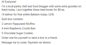 Sellling baked goods online promotional image