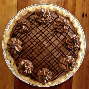 Caramel Chocolate Mousse Pie