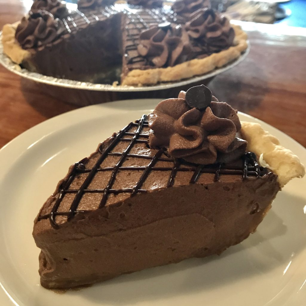 Caramel chocolate mousse pie recipe