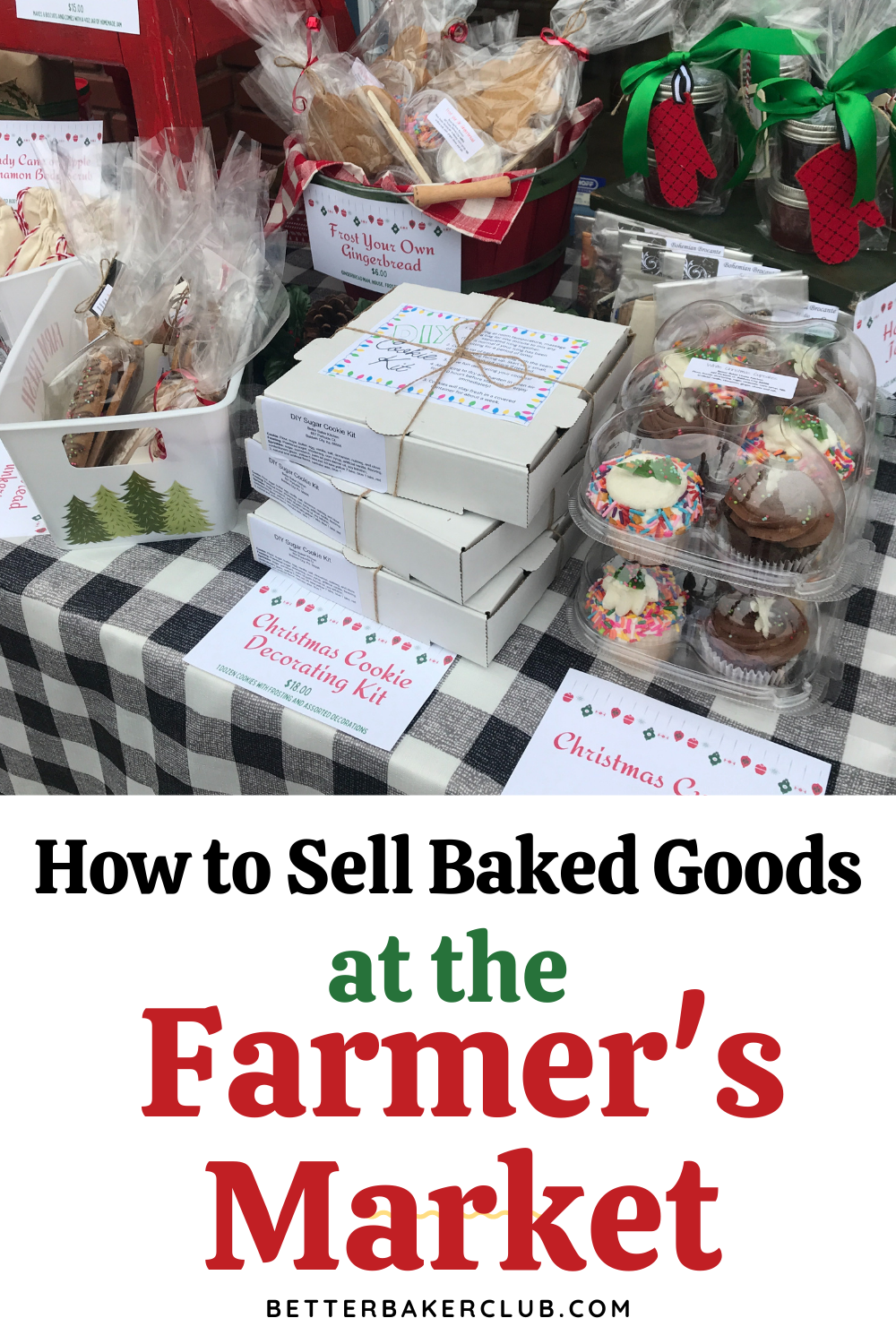 sell baked goods at the farmers market