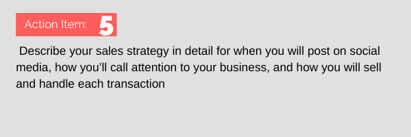 action item for writing a business plan