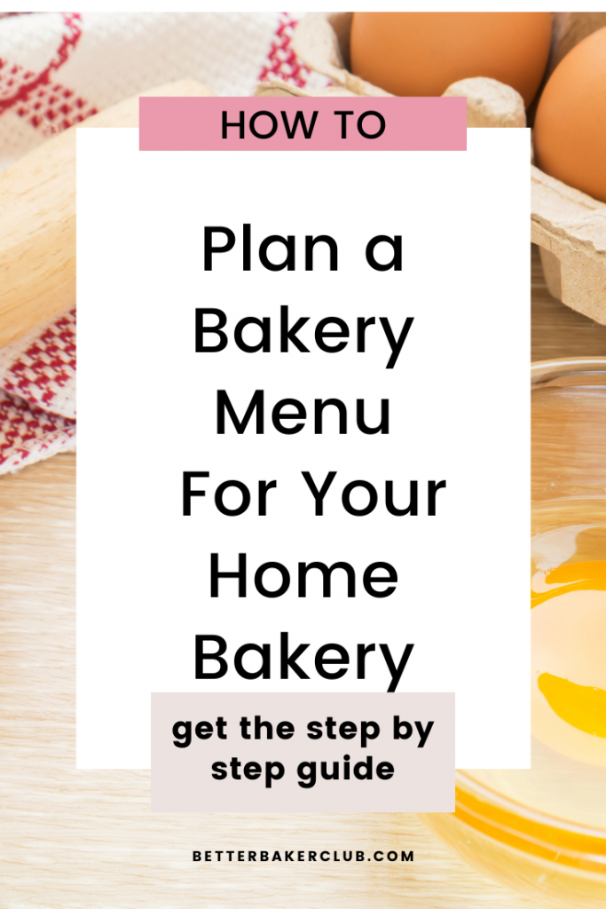Promotional material for home bakery menu planning with baking expert Allyson Grant
