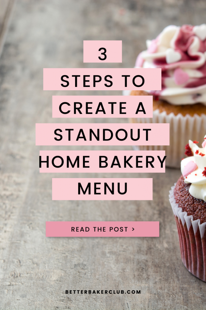 promotional material for home bakery menu planning with home bakery expert Allyson Grant