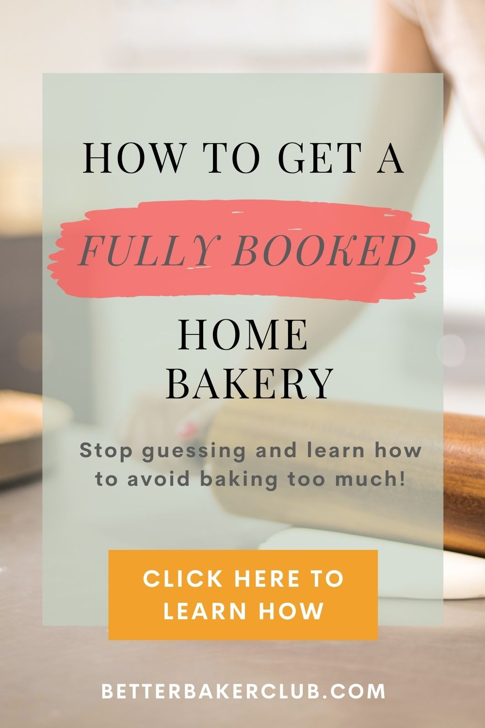 Promotional graphics for a fully booked home bakery by bakery expert Allyson Grant